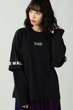 レイヤード風ロングTシャツ