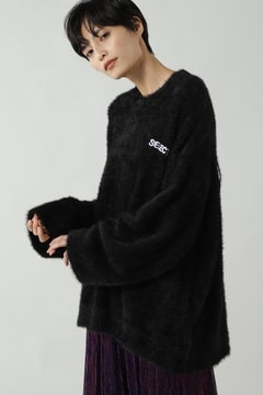 SHAGGY LOGO KNIT
