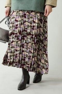 カモフラージュプリーツスカート