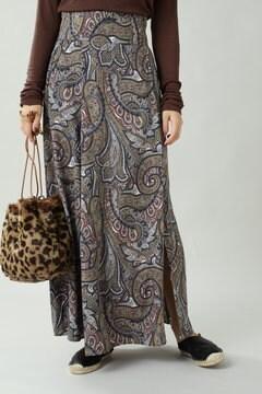 ペイズリープリントマキシスカート