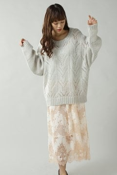 CROCHET LACE KNIT 3WAY OP