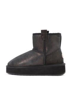 シープスキン厚底ブーツ