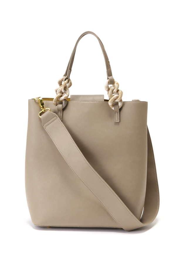 アクリルチェーンバッグ