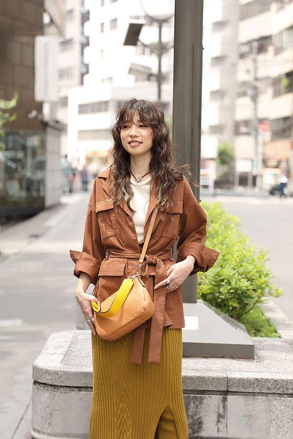 【ROSE BUD別注】バイカラーベルトショルダーバッグ