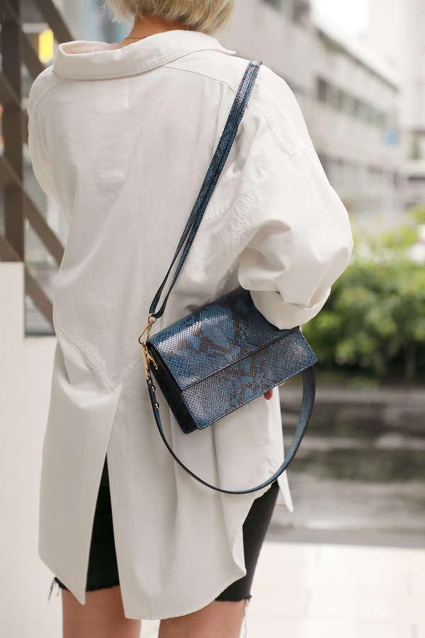【ROSE BUD別注】パイソン柄ショルダーバッグ