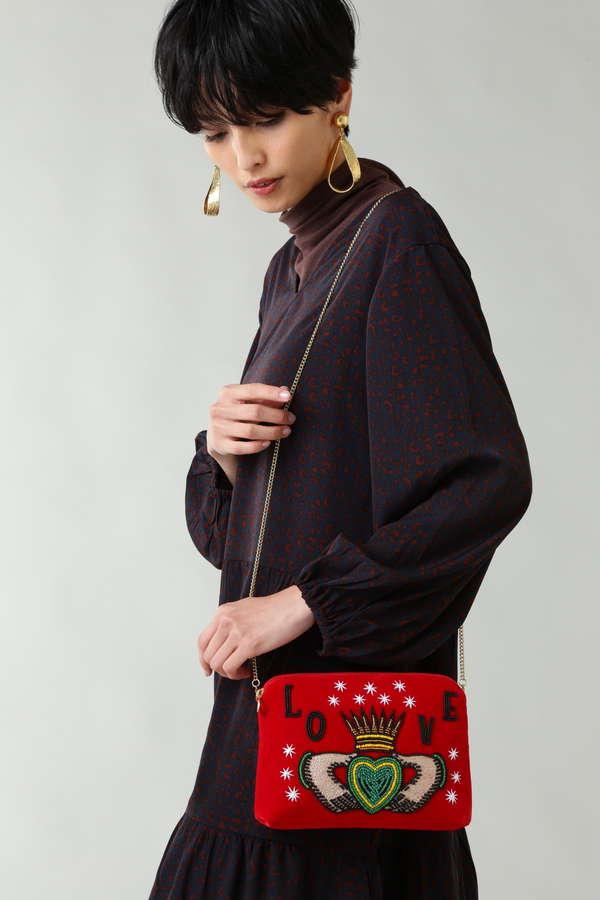 ビーズ刺繍ポシェットショルダーバッグ