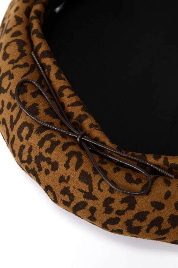 スエード風ベレー帽