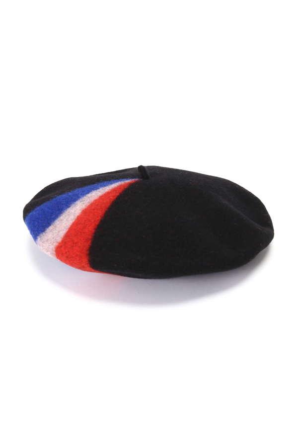 トリコロールカラーベレー帽