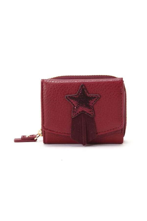 スターモチーフ付ミニ財布