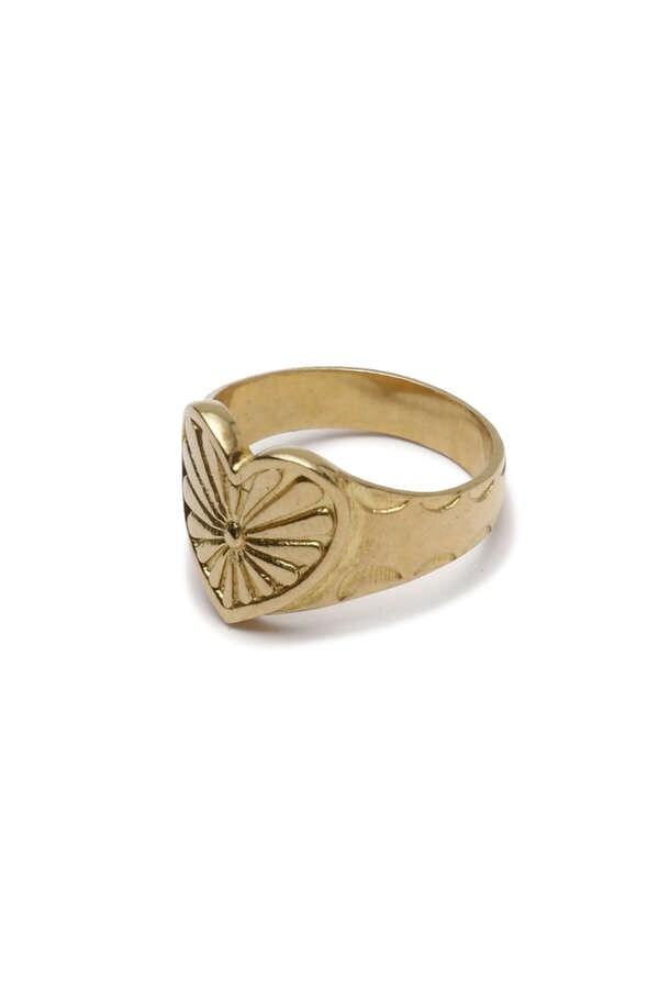 ハートコンチョ リングNative Heart Concho Ring (Gold)