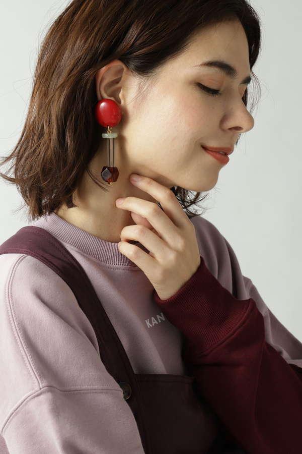 【ROSE BUD別注】デザインイヤリング