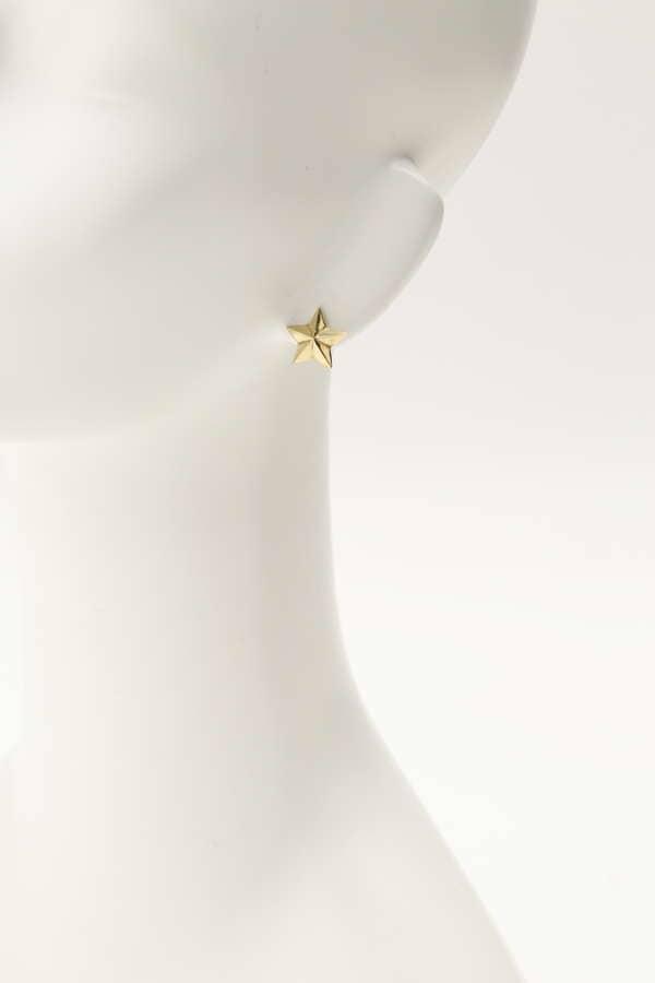 スター コンチョ スタッズ ピアス Star Power Earrings (Gold)