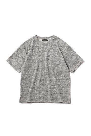 メンズメランジパイルコットンTシャツ