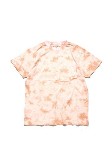 メンズタイダイ染めハンドサイン刺繍Tシャツ