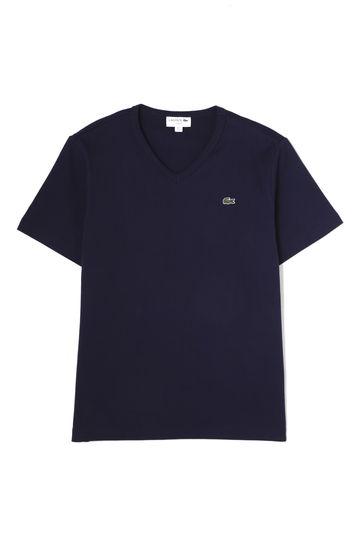 メンズ ラコステVネックTシャツ