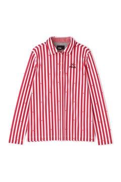 【PING APPAREL】長袖 カノコ ストライプ ポロシャツ (LADIES)