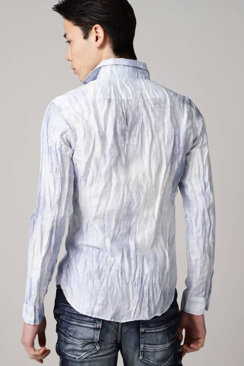 TORNADO MART∴麻クレープムラプリントシャツ
