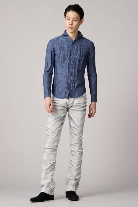 TORNADO MART∴麻ジオメトリックジャガードシャツ