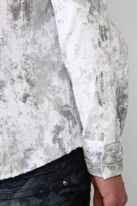 【ドラマ着用商品】TORNADO MART∴朧クロコダイルフロッキープリントシャツ