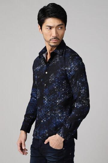 TORNADO MART∴組子ジオメトリックプリントシャツ