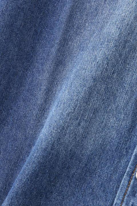 BLUE TORNADO∴6.5ozデニム7分袖ウエスタンシャツ