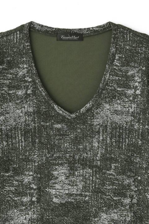 TORNADO MART∴アッシュプリントフクレJQ長袖カットソー