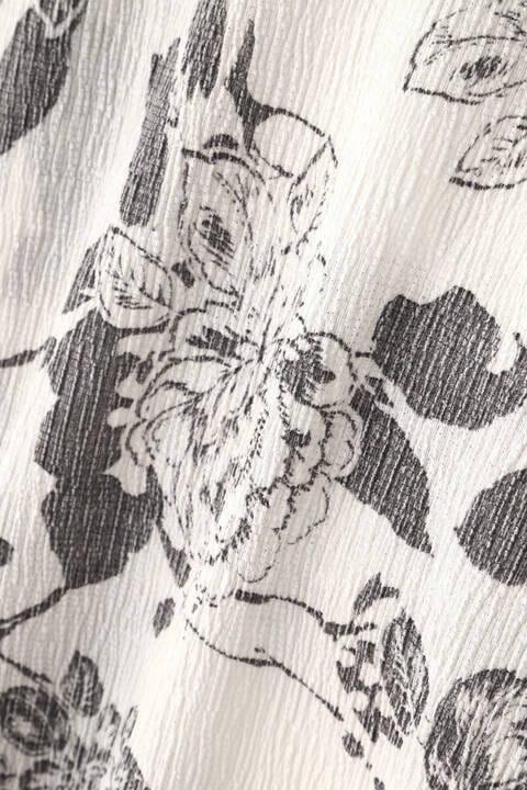 TORNADO MART∴楊柳花柄抜染プリント長袖カットソー