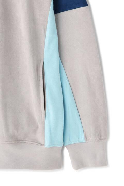BLUE TORNADO∴フェイクスウェード切り替えプルパーカ