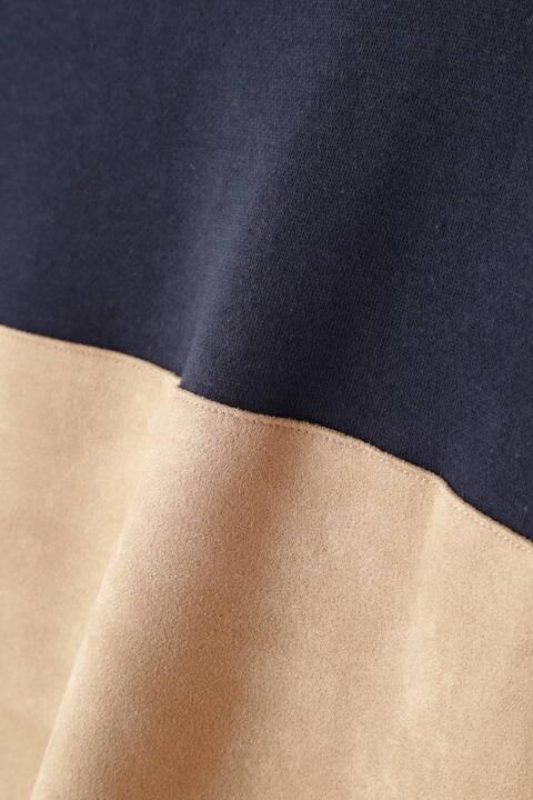 BLUE TORNADO∴裏毛×スウェード切り替えクルー