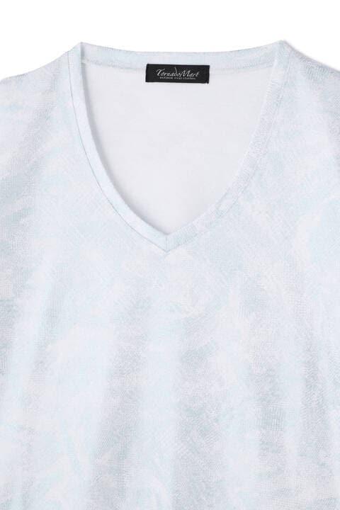 TORNADO MART∴ダイヤJQ枝垂箔半袖カットソー