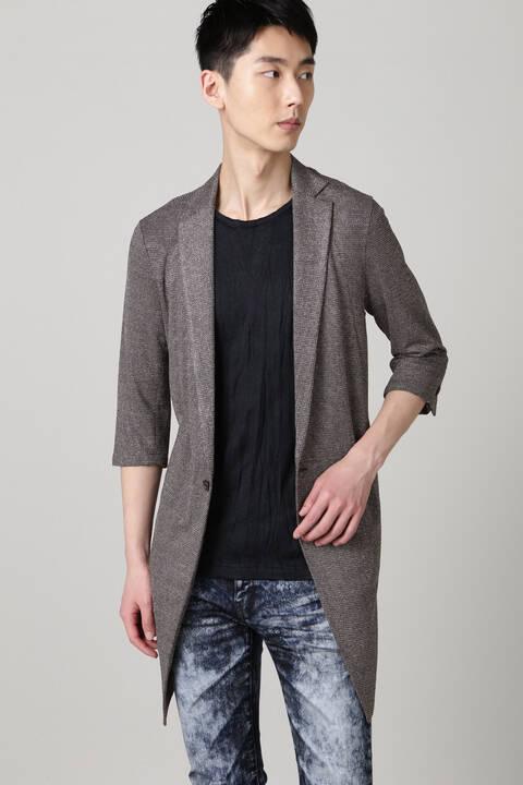 TORNADO MART∴ブライトタックメッシュ7分袖チェスター