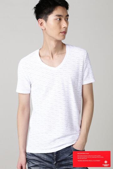 TORNADO MART∴ジグザグタックジャカード半袖カットソー