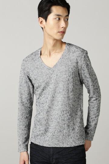 TORNADO MART∴ステイン起毛幾何長袖カットソー