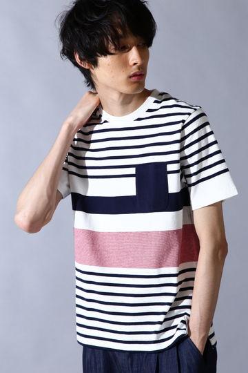BLUE TORNADO∴PK付転換ボーダーTシャツ