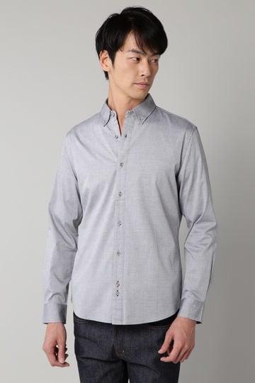 OX裾パイピングシャツ