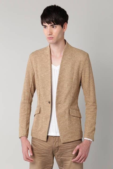 TORNADO MART: メランジパールニットジャケット