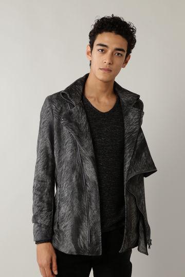 TORNADO MART∴ヘアラインプリントスエード ドレープジャケット