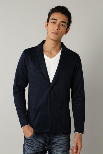 BLUE TORNADO: ブライトスラブショールカラーカットジャケット