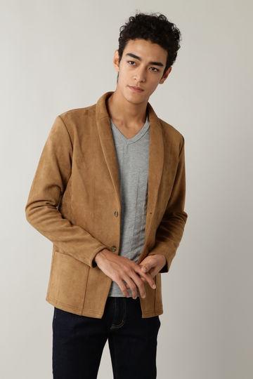 BLUE TORNADO: ポンチスウェードショールカラーカットジャケット