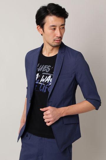 BLUE TORNADO∴COOL MAXシアサッカー7分袖ジャケット