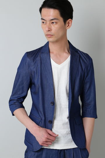 BLUE TORNADO∴CRデニム7分袖ジャケット
