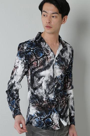 【RUDO掲載】TORNADO MART:タイガーパイソンプリントプリーツシャツ