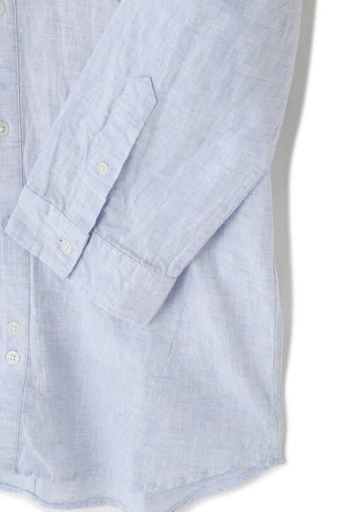 BLUE TORNADO∴2色ハケ目カッタウェイ7分袖シャツ