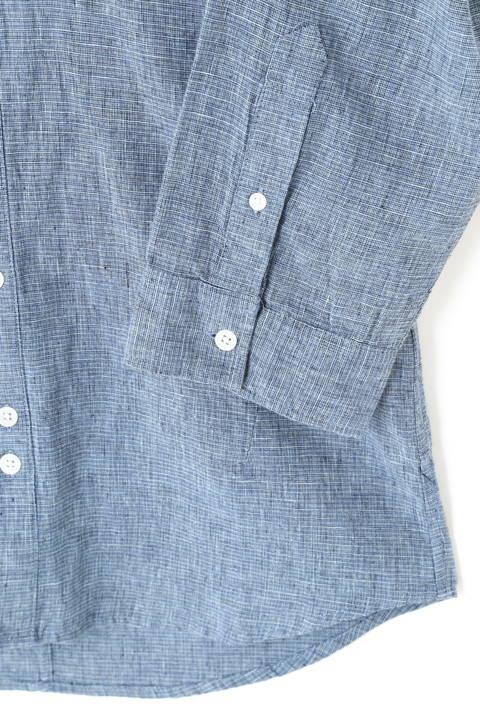BLUE TORNADO∴3色ハケ目カッタウェイ7分袖シャツ