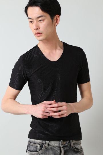 TORNADO MART∴フェザーブライトジャガード半袖カットソー