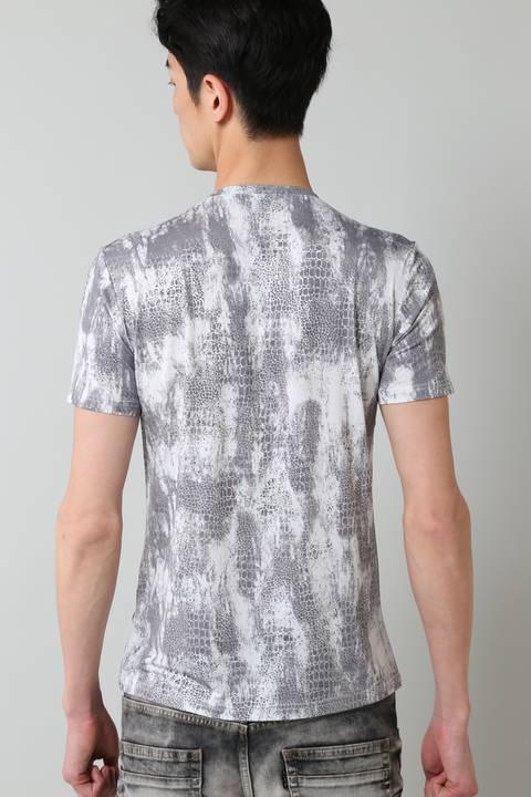 TORNADO MART∴クロコブライトフォイル半袖カットソー
