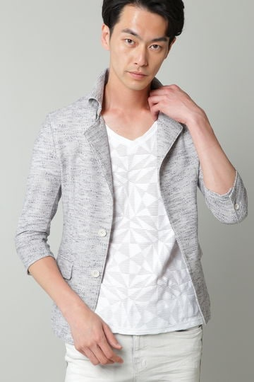 TORNADO MART∴スラブインレー返し衿カットジャケット