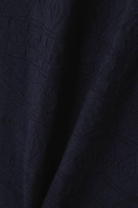 BLUE TORNADO∴リンクスジャカードVネック半袖カットソー