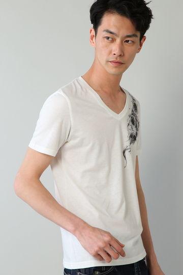Zero by TORNADO MART∴バタフライ&スモークラインストーンTシャツ