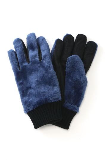 BLUE TORNADO∴マイクロフリースリブニットカフスグローブ
